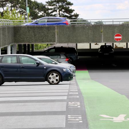 An outdoor local authority car park