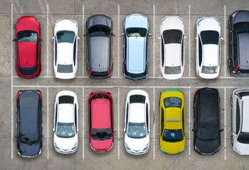 A view of a car park