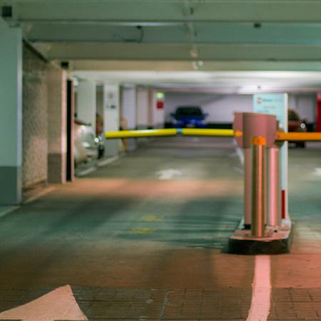 A hospital car park