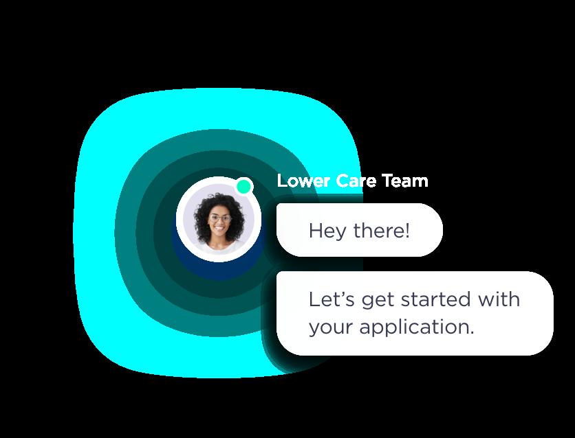 Talking through an expert through the Lower app