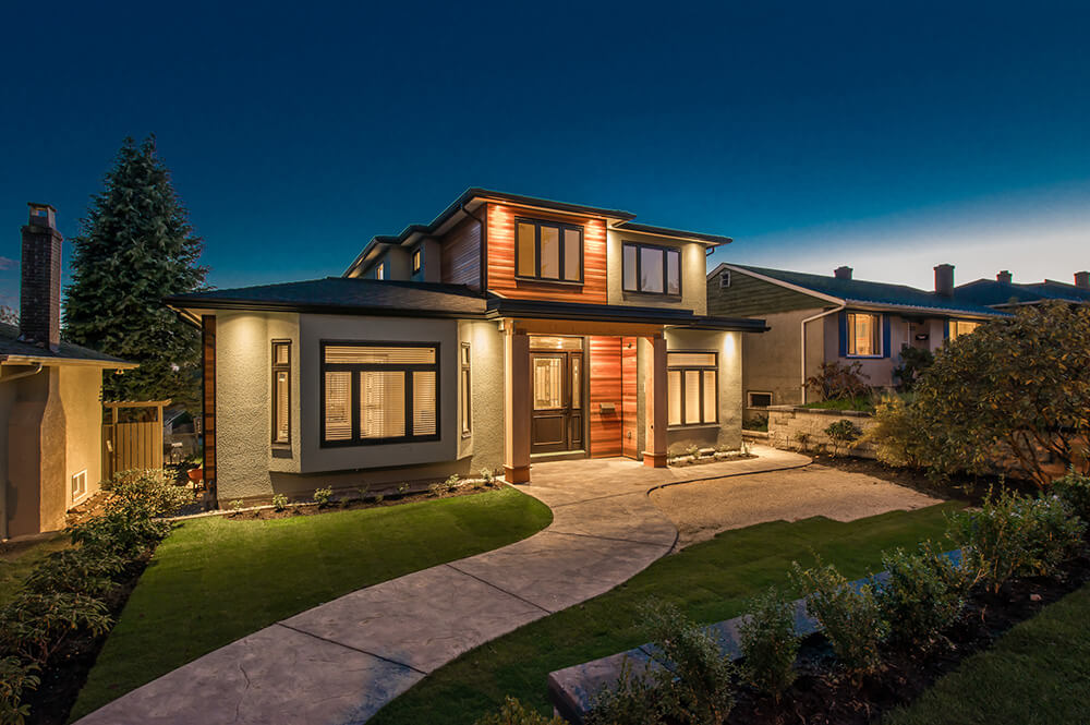 Luxury house night view