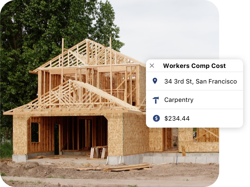Workers compensation breakdown for each job