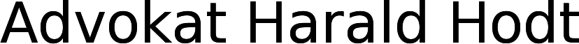 Advokat Harald Hodt