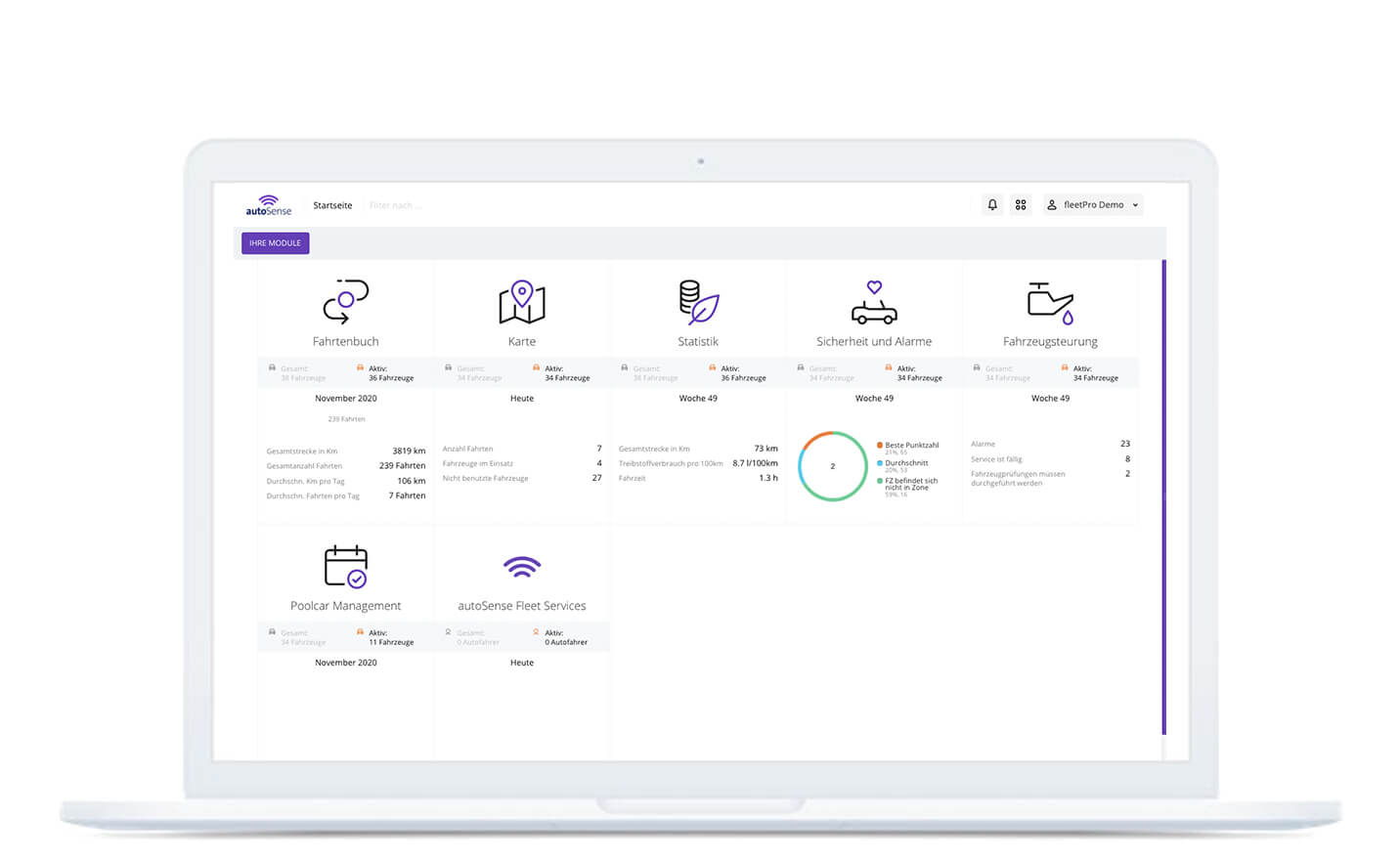 autoSense fleetPro Admin-Tool