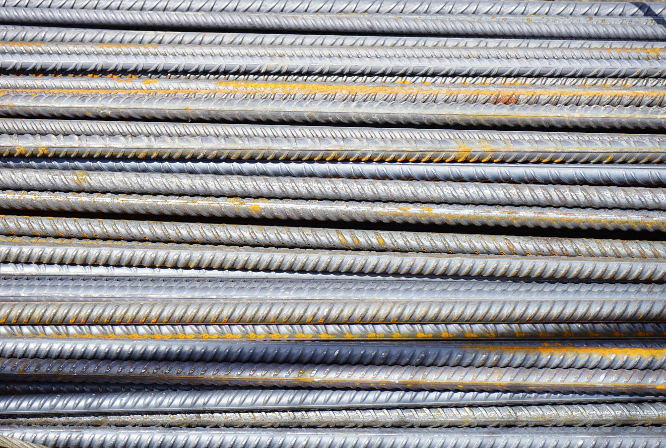 Stack of iron rebar