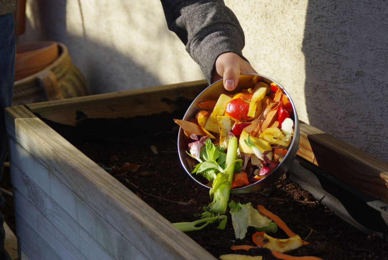 Food remains being properly composted.
