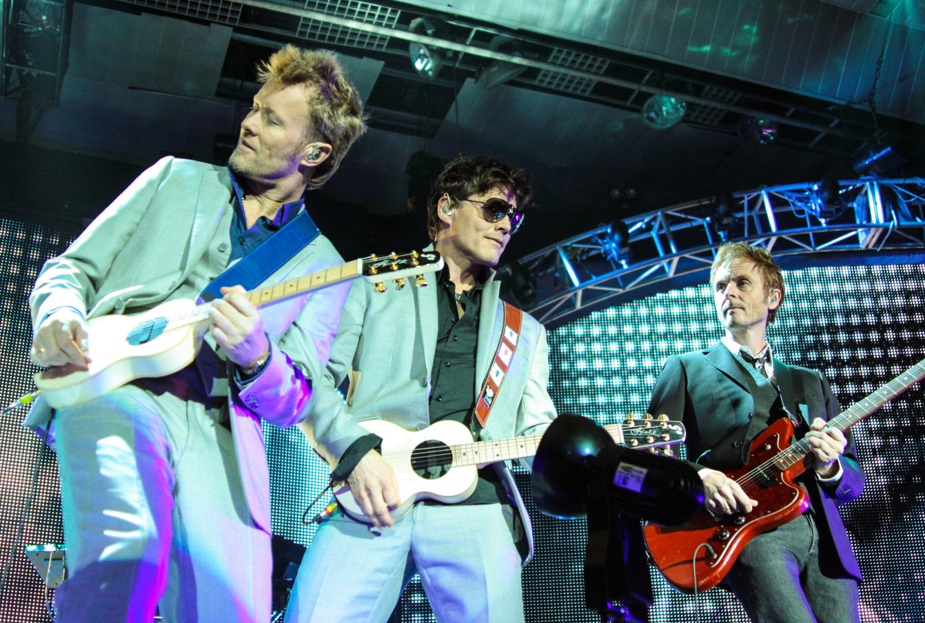A-ha The Norwegian Band (And Electric Car Activists), Playing At A Concert