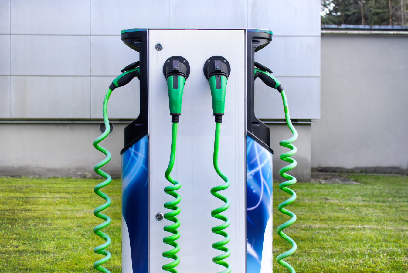 An electric vehicle charging station in Norway