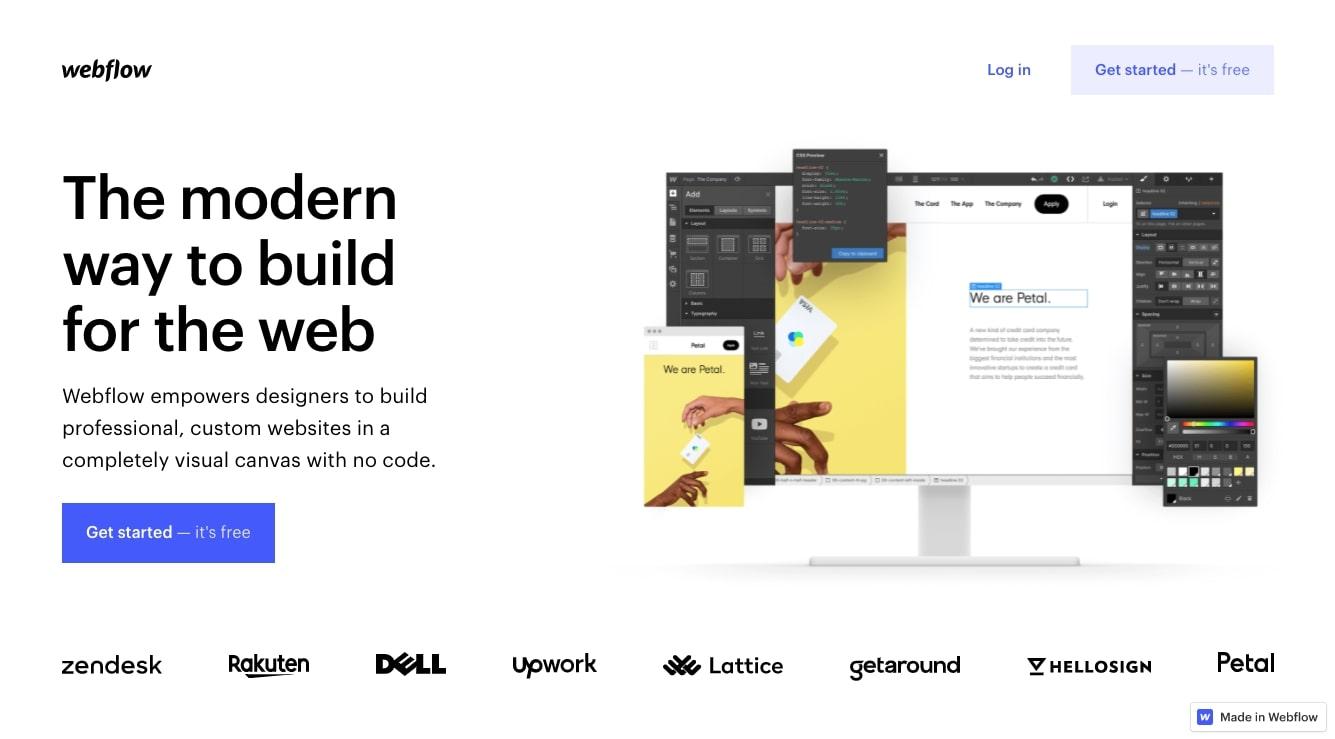 Webflow landing page builder