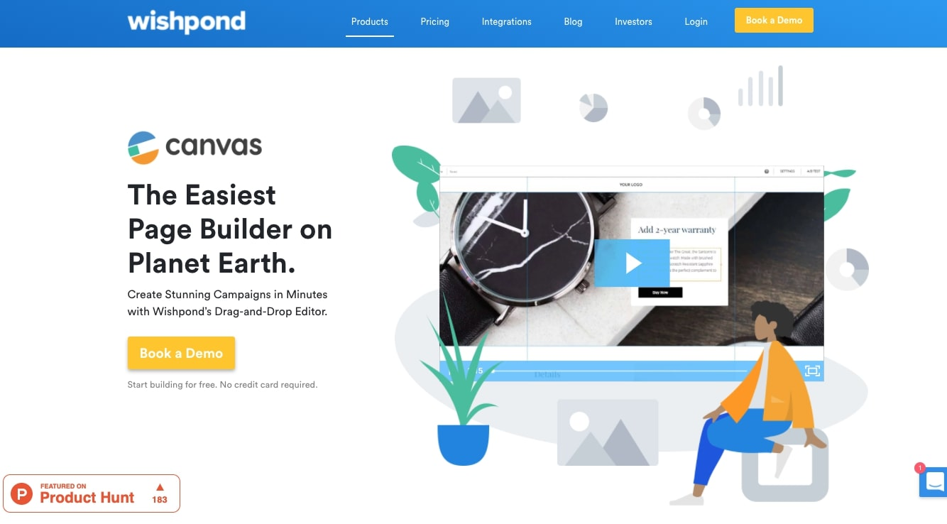 Wishpond canvas page builder