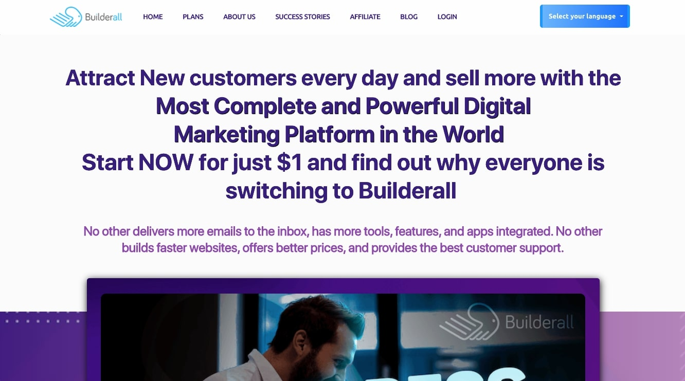 Builderall landing page builder