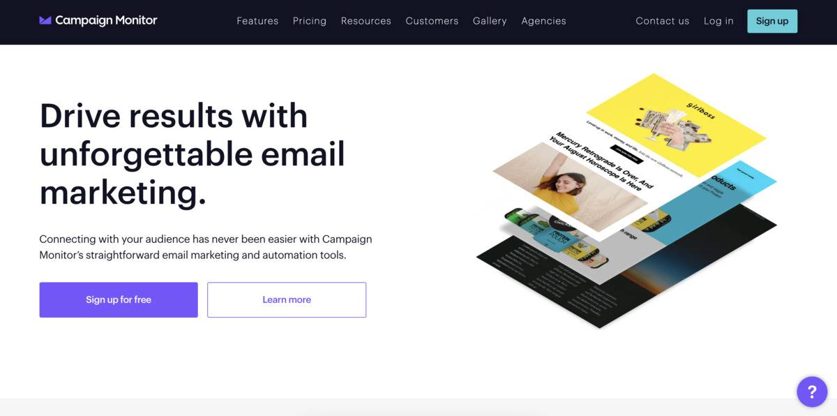 Campaign Monitor email marketing tool