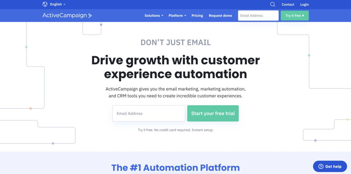 ActiveCampaign email marketing tool