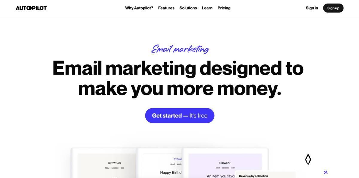autopilot email marketing tool