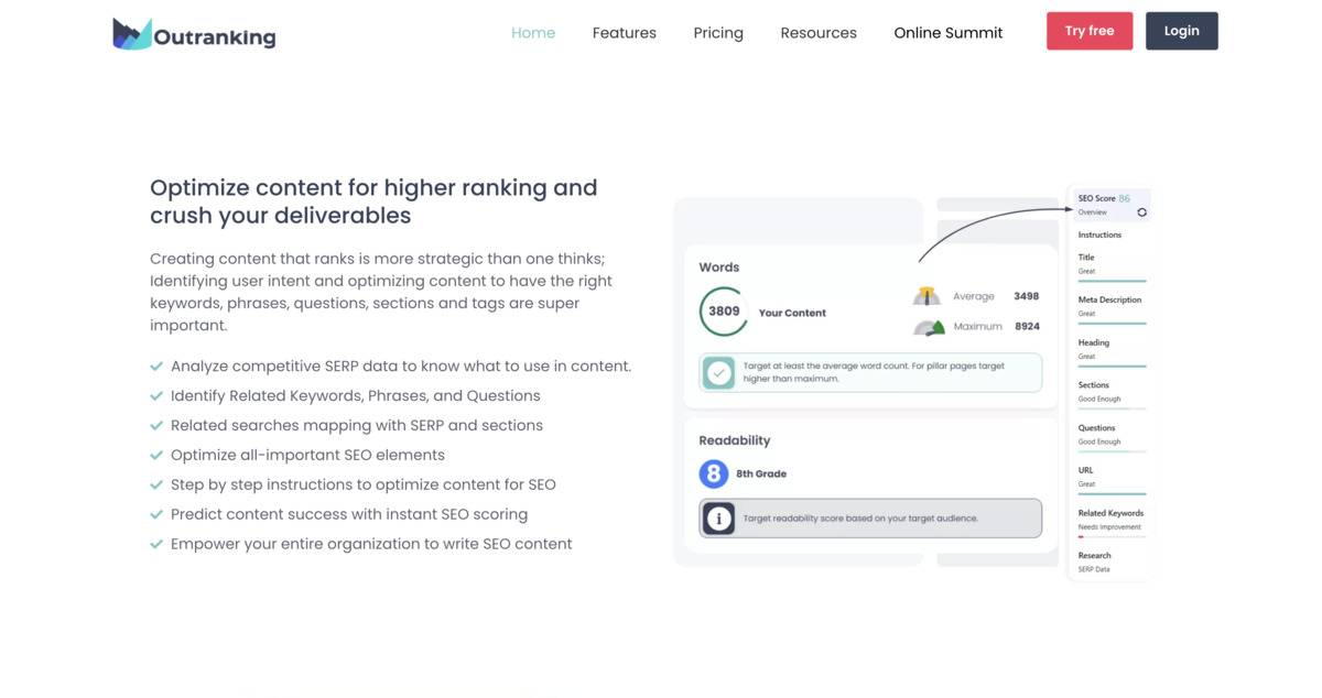 Optimize content for higher rankings