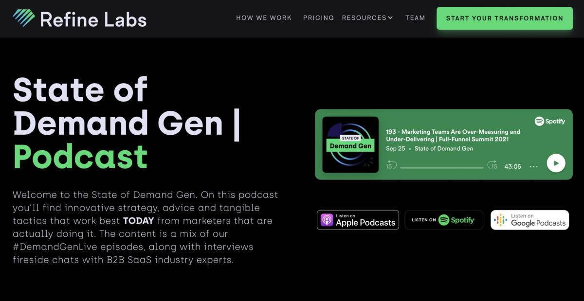 State of Demand Gen podcast