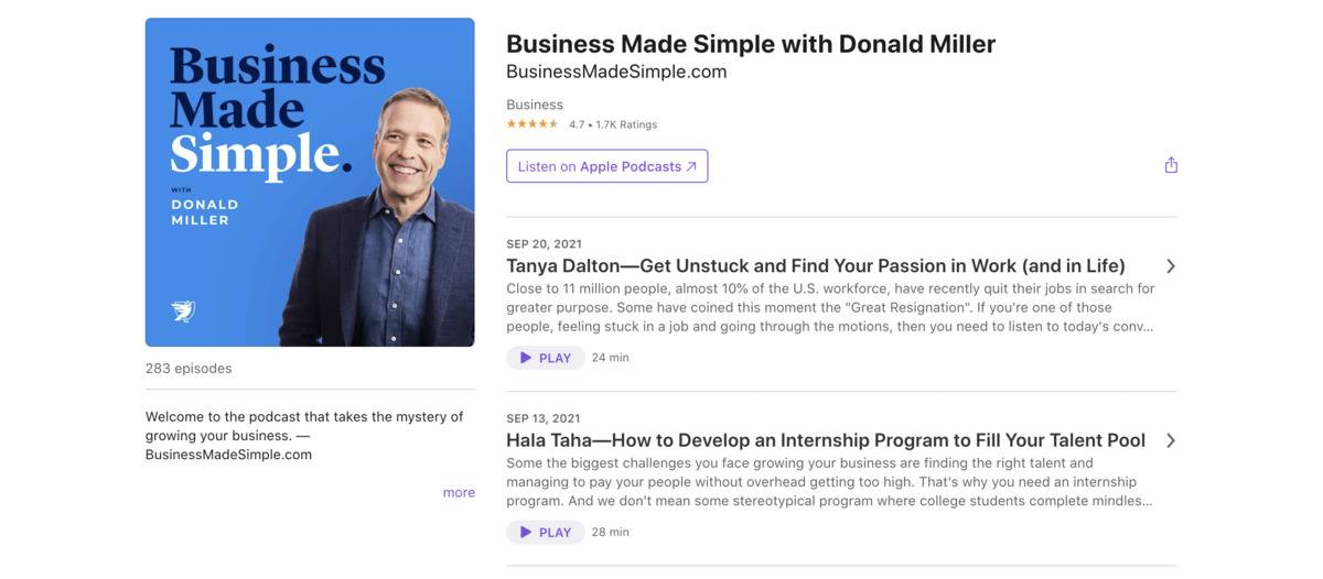 Business Made Simple podcast