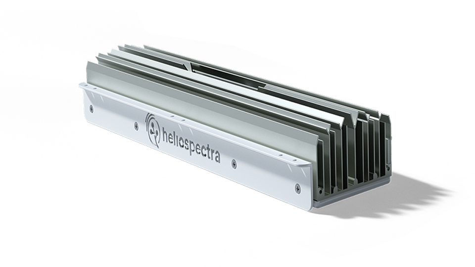 A MITRA LED light, more efficient than HPS.