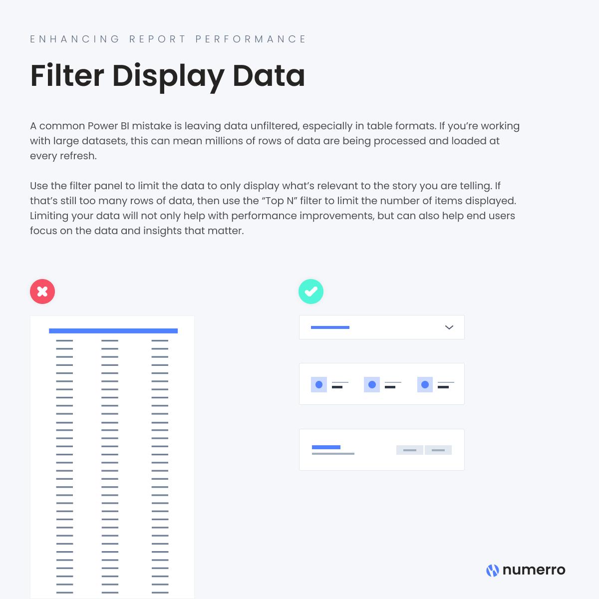 Enhancing Report Performance -Filter Display Data