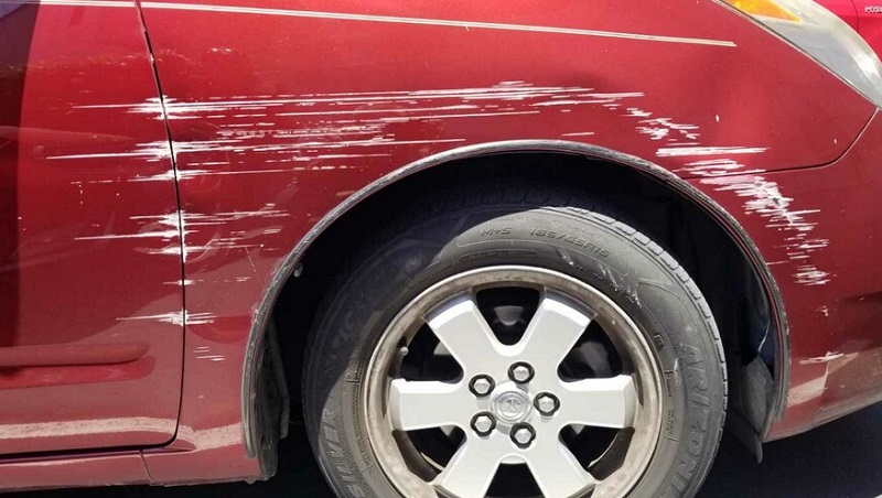 Prius right side damages