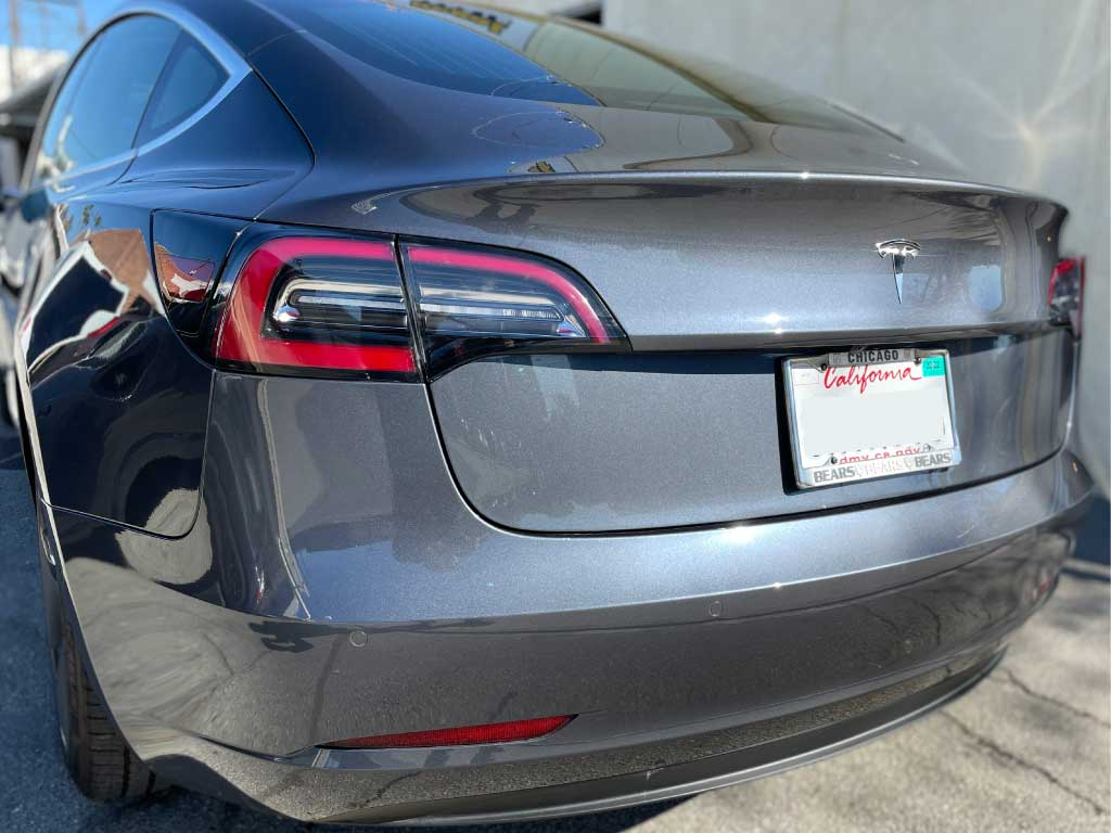 Tesla Lift Gate Repair and Paint