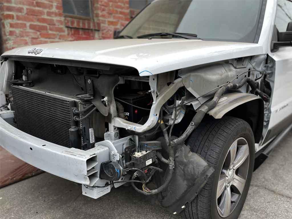 Jeep Patriot Collision, Dent-Process