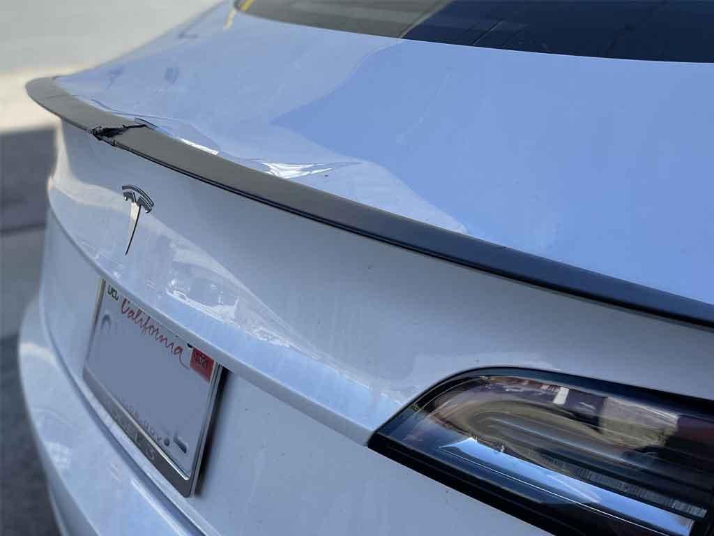 Tesla Trunk Dent