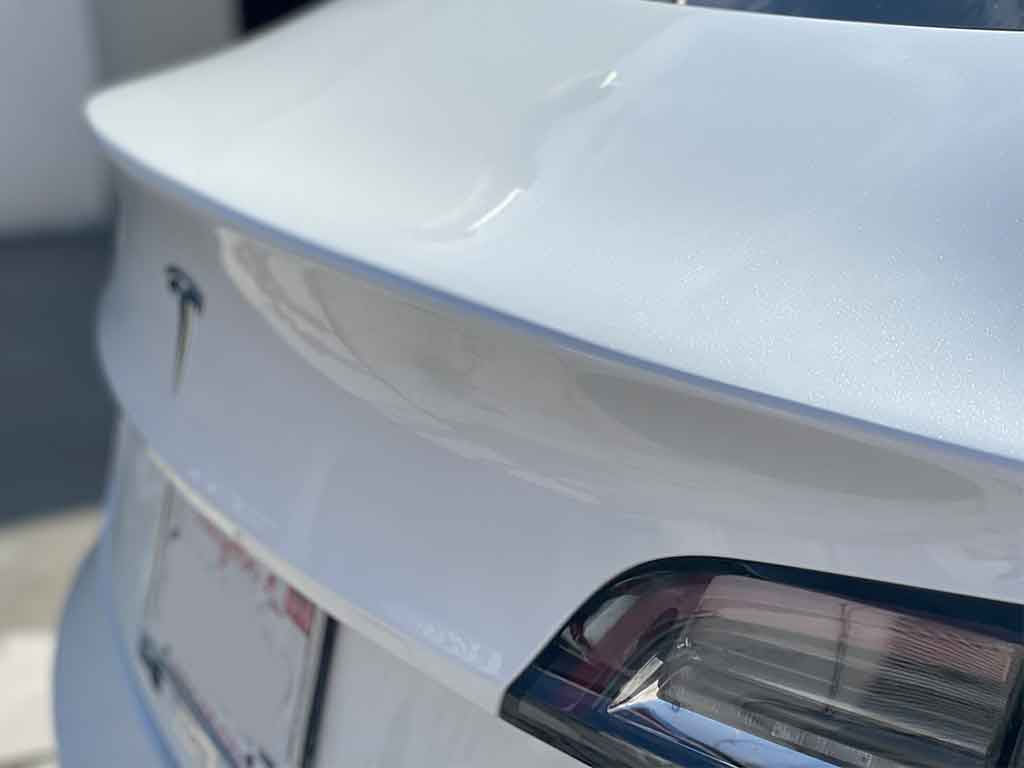 Tesla Trunk Dent Repair