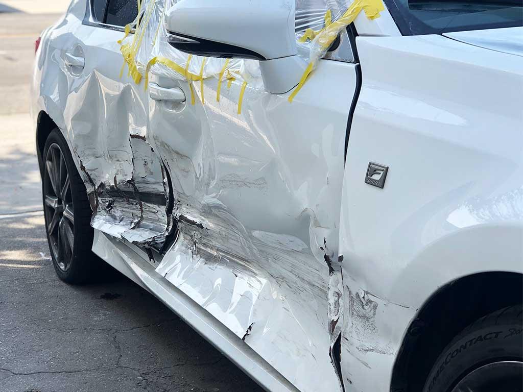Lexus GS T Bone Collision Damage