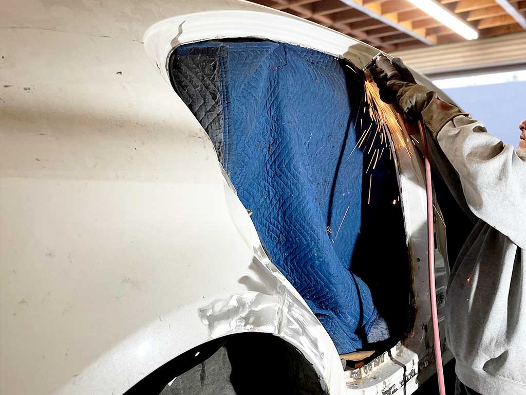 Lexus Pillar Skin Welding and Sectioning