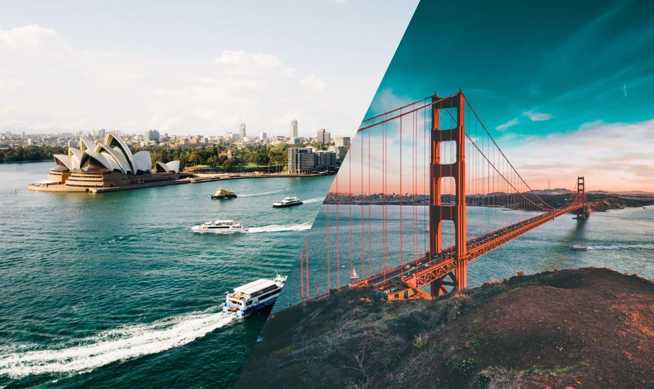 Sydney and San Francisco