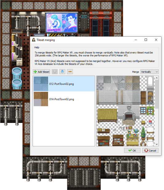 game-character-hub-portfolio-edition-tileset-merging-screenshot