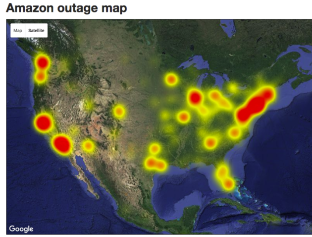 Amazon Outage Map