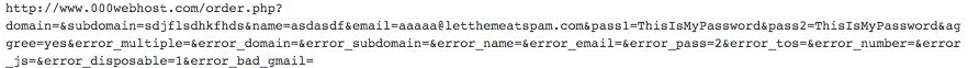 Form validation exception passed in plaintext