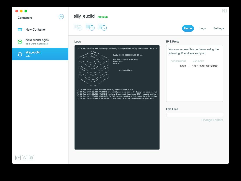 Docker Kitematic UI