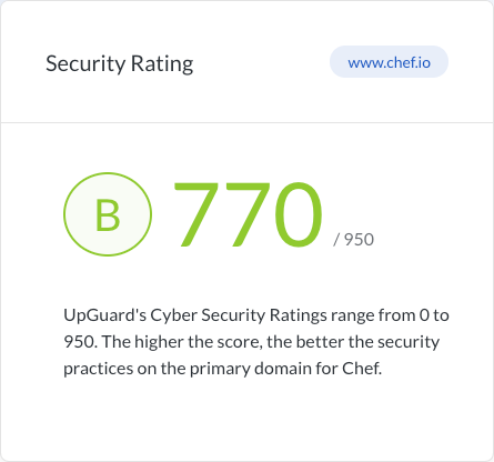Chef Security Rating