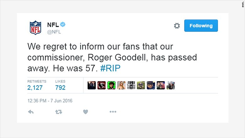 NFL Twitter hacked and defaced after social media employee's password compromised.