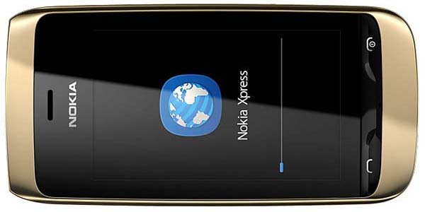 Nokia mobile phone with Nokia's Xpress browser