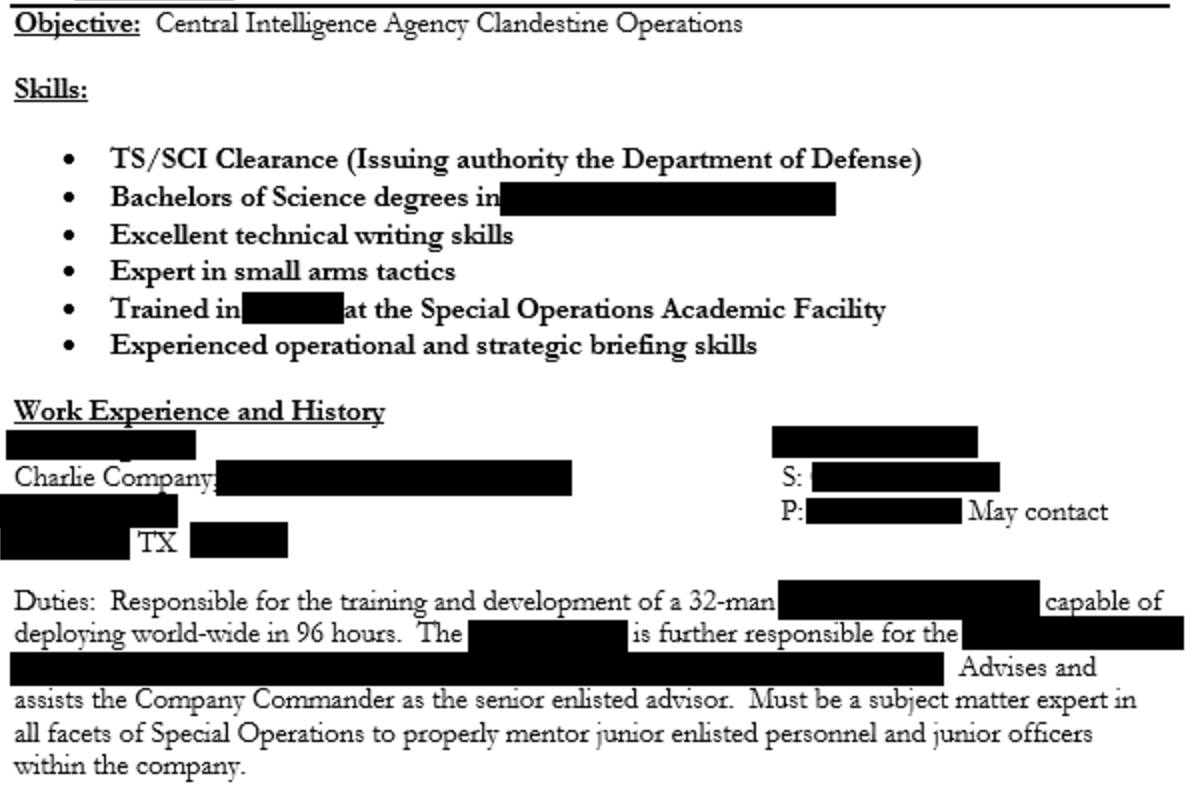 Central Intelligence Agency Clandestine Operations
