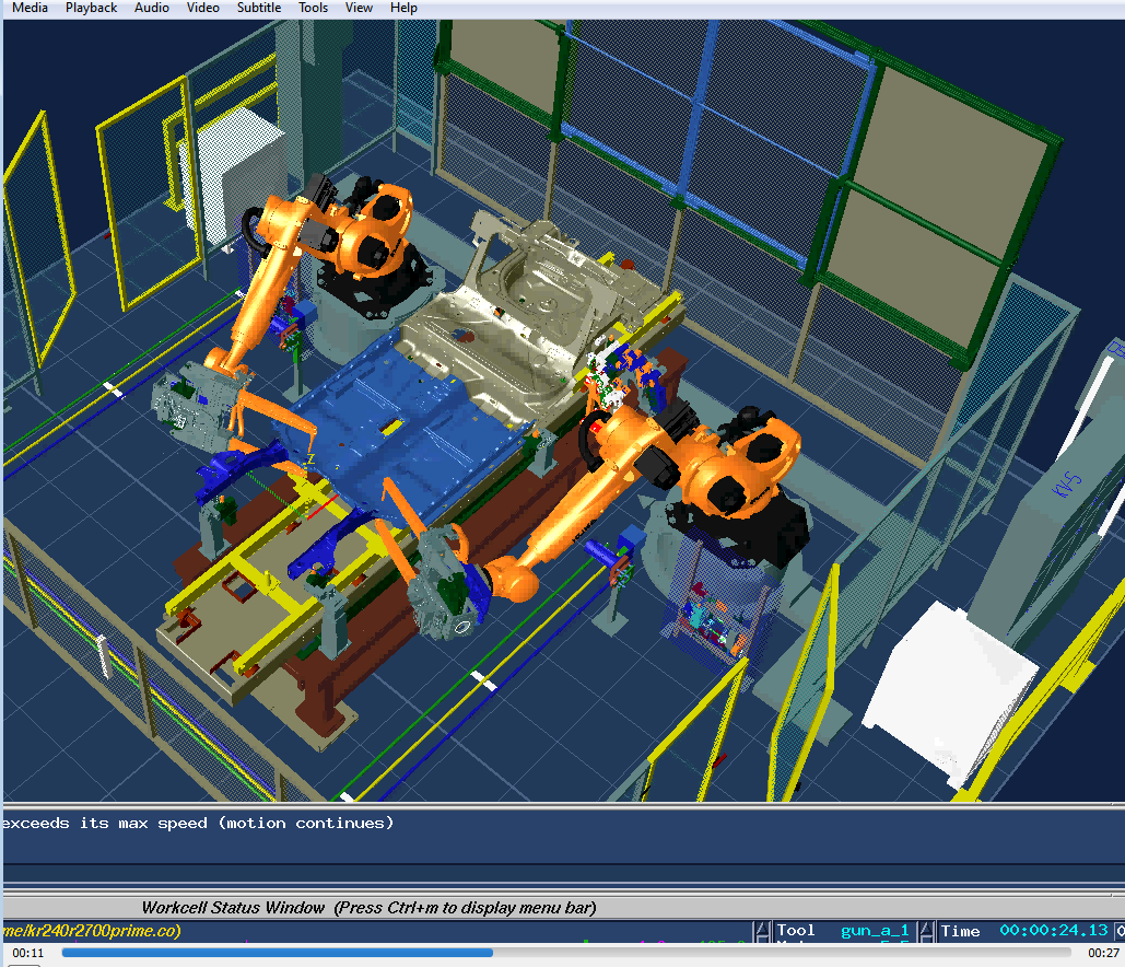 Screenshot of a robotics animation file contained in the Level One data set.