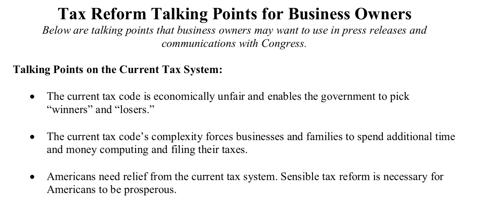 """Screenshot of TPPCF """"Talking Points for Business Owners"""""""