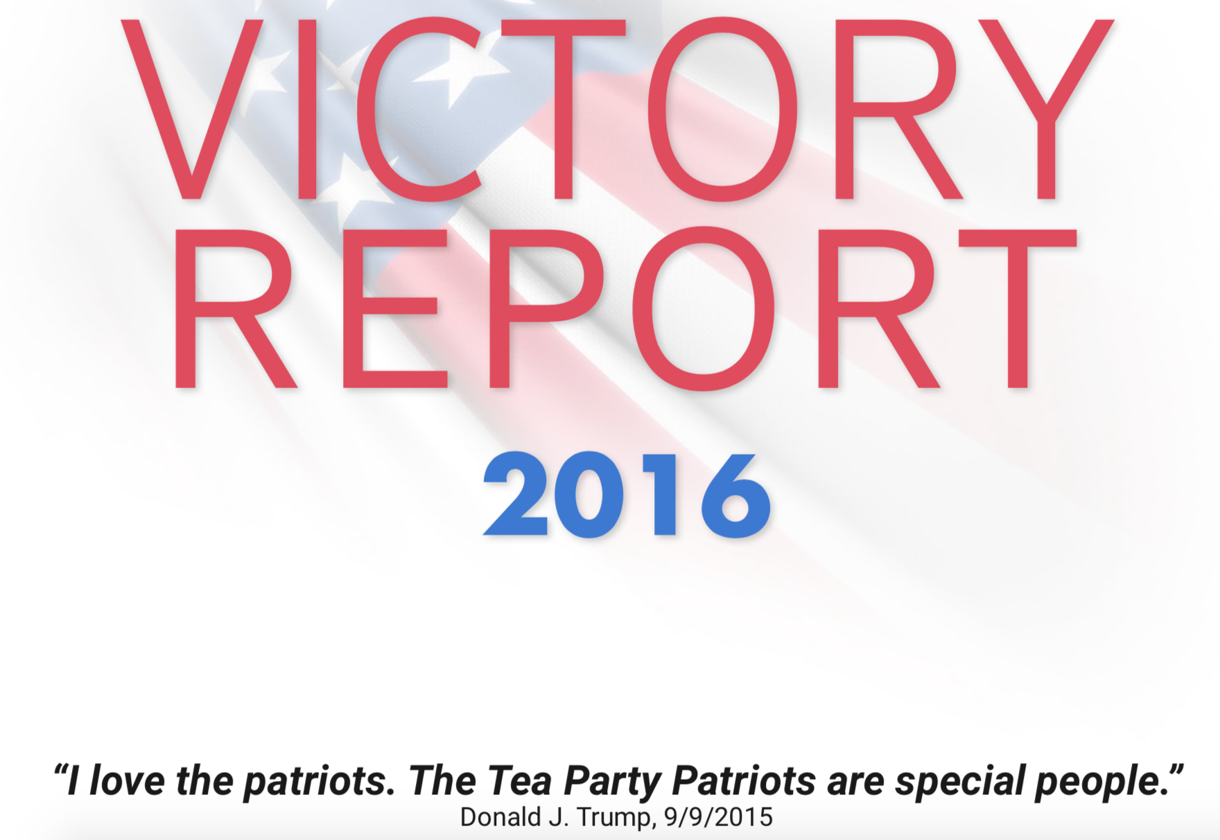 Screenshot of the cover of the TPPCF Victory Report