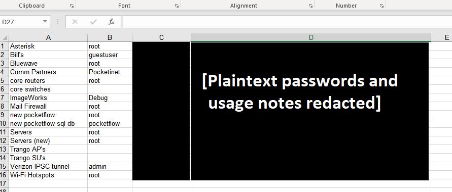 2Redacted screenshot of Pocket iNet password document.