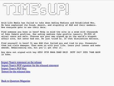 Hackers Finally Post Stolen Ashley Madison Data
