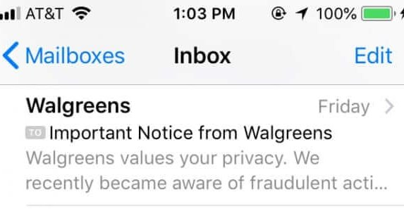 Walgreens Hidden Notice of Data Breach in Seemingly Routine Privacy Update