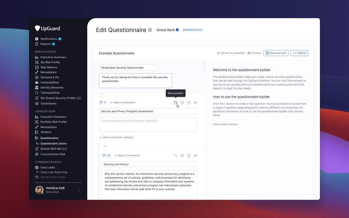 Build your own security questionnaires