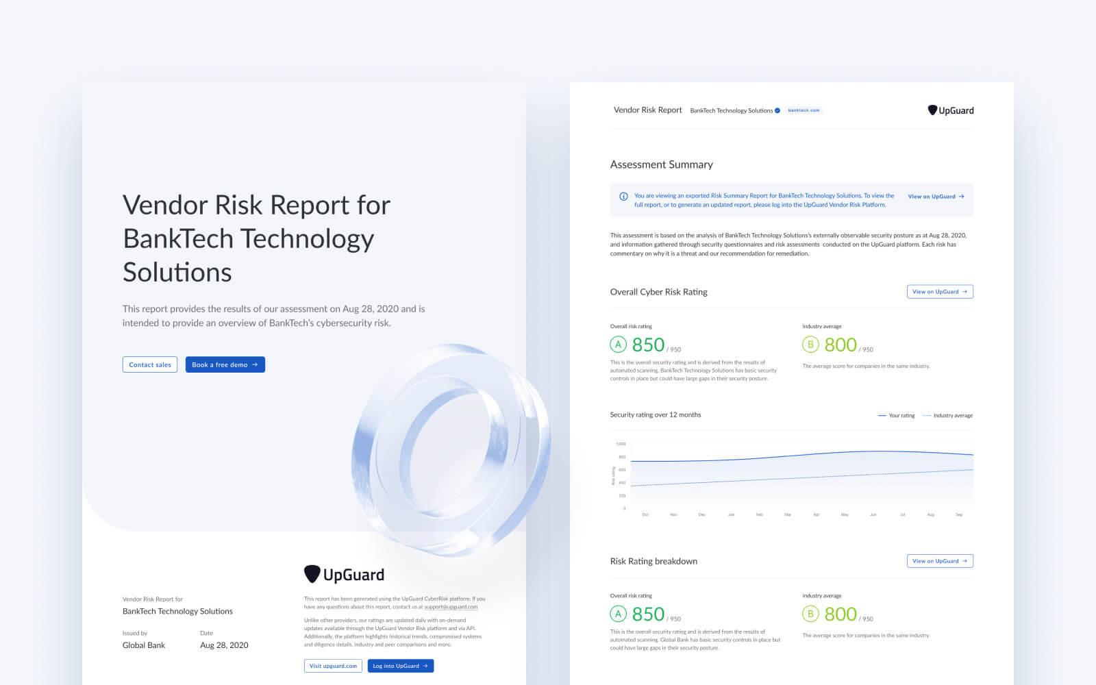 New vendor risk report