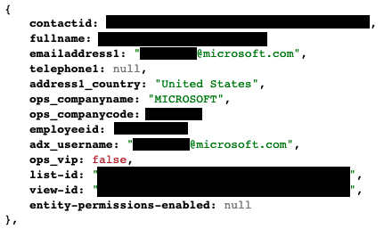 Example record for Microsoft Global Payroll Services collection