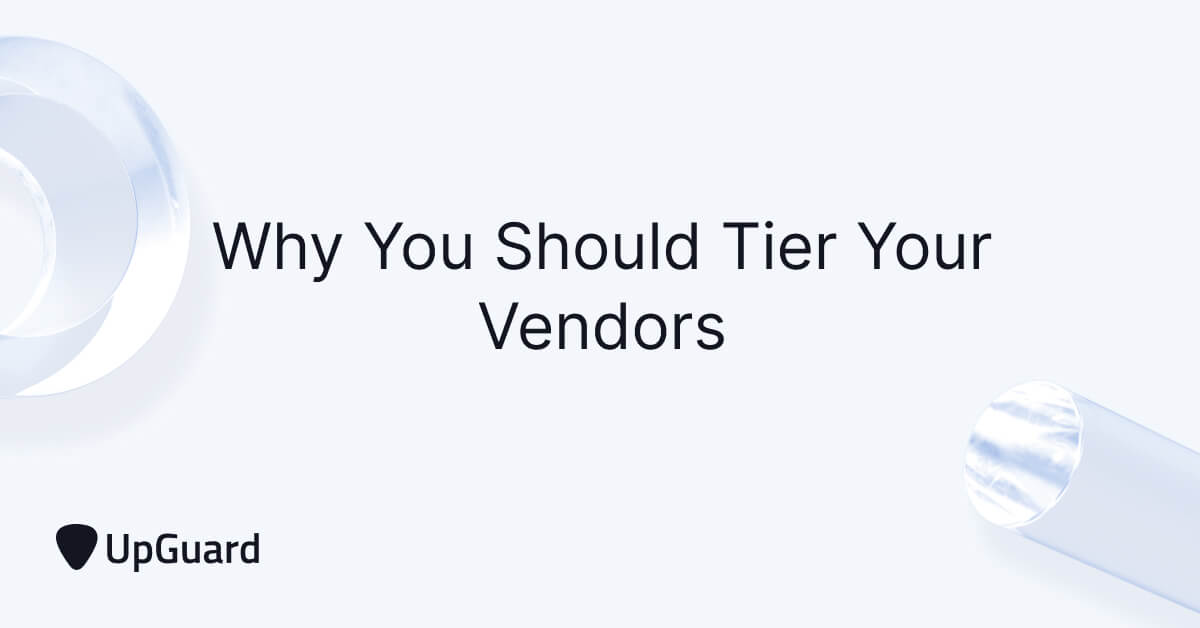 Why You Should Tier Your Vendors