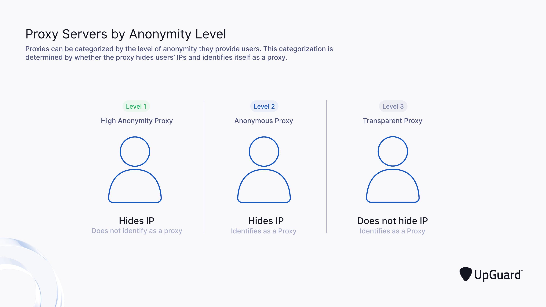Proxy Servers by Anonymity Level